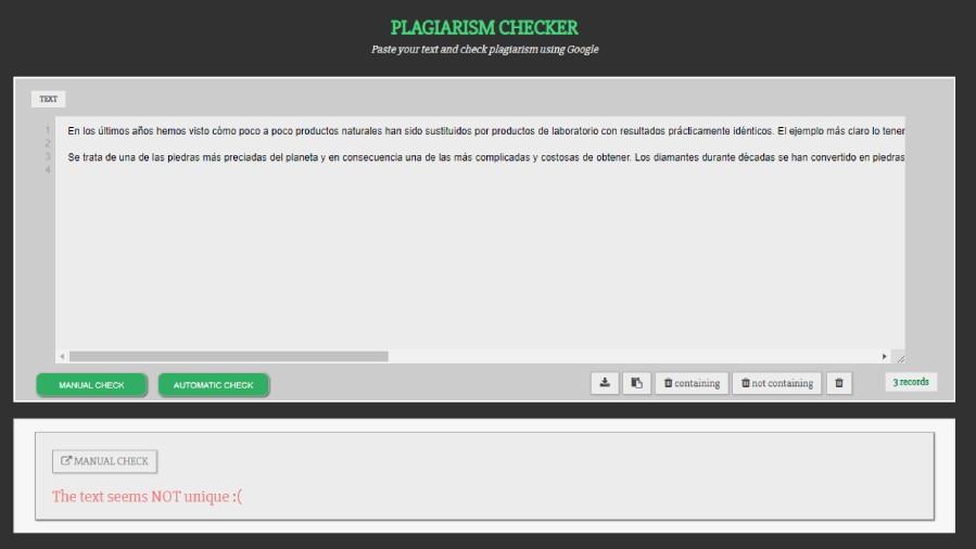 herramienta gratuita para detectar texto plagiado en Google